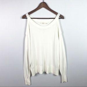 J Brand Cold Shoulder Sweater Size M Long Sleeve